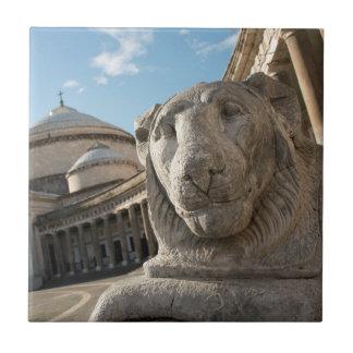 Carreau Statue de lion devant San Francesco di Paola