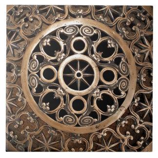 Carreau Steampunk antique de bronze en métal de Vatican