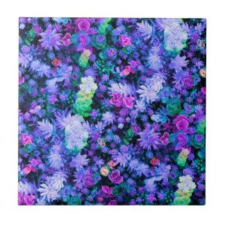 Carreau Succulents floraux roses et pourpres Girly