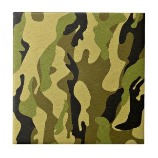 Carreau Texture verte d'armée de camouflage