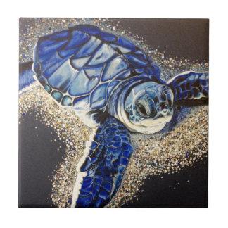 Carreau Tobin la tortue de mer de bébé