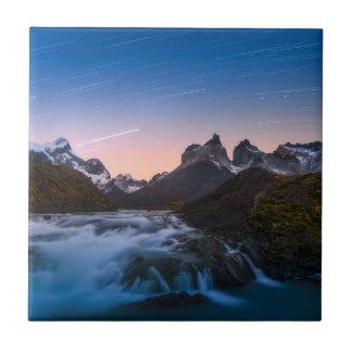 Carreau Traînées d'étoile au-dessus de Torres Del Paine