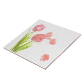 Carreau Trépied ou boîte de Retr de fleur de tulipe de