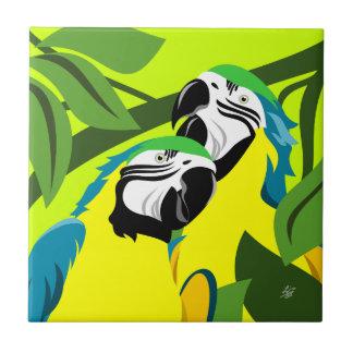 Carreau Tuile abstraite d'art de perroquet d'ara