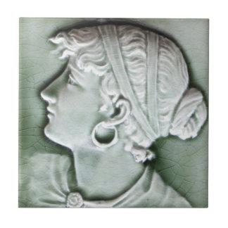 Carreau Tuile antique Repro de portrait de l'Américain