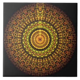 Carreau Tuile aztèque martienne de mandala