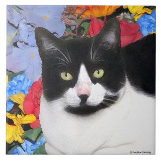 """Carreau Tuile de chat de """"Sidney"""""""