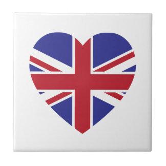 Carreau Tuile de coeur d'Union Jack
