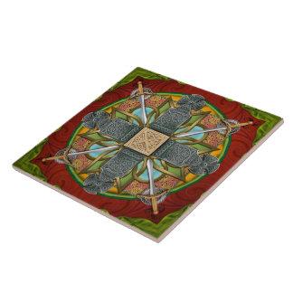 Carreau Tuile de croix celtique de mandala