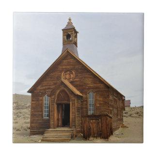 Carreau Tuile de décor - église dans la ville fantôme de
