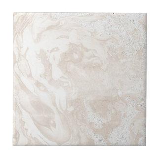 Carreau Tuile de marbre rose de Faux et blanche moderne