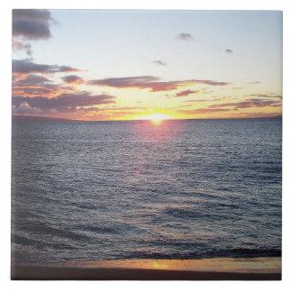 Carreau Tuile de photo de coucher du soleil de Maui