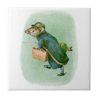 Carreau Tuile de souris de Beatrix Potter