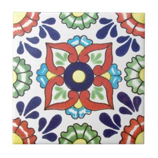 Carreau Tuile de Talavera de Mexicain (rouge, vert, jaune,
