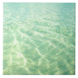 Carreau Tuile décorative de l'eau d'océan de turquoise