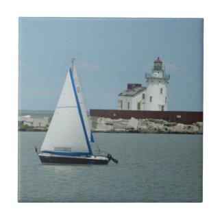 Carreau Tuile décorative de voilier et de phare