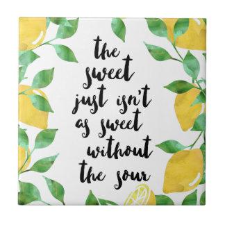 Carreau Tuile douce et aigre de citation de citron