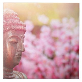 Carreau Tuile éclairée de photo de Bouddha