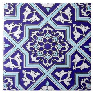 Carreau Tuile en céramique de photo de conception bleue