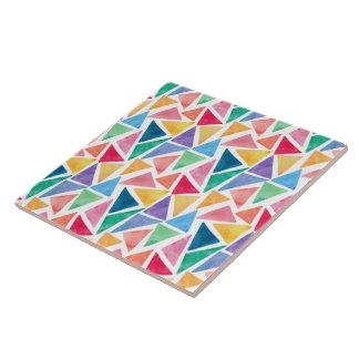Carreau Tuile en céramique de photo de motif de triangles