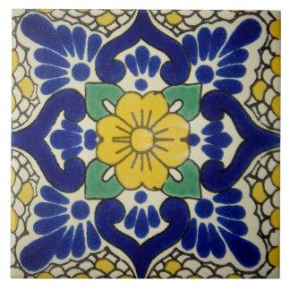 Carreau Tuile en céramique espagnole de photo de fleur