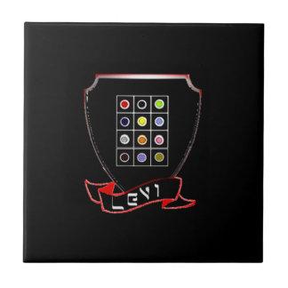 Carreau Tuile en céramique noire de photo de Lévi de tribu