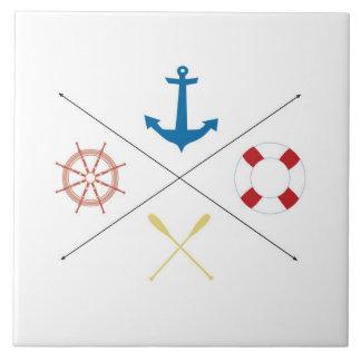Carreau Tuile nautique d'affichage de minerai de bateau à