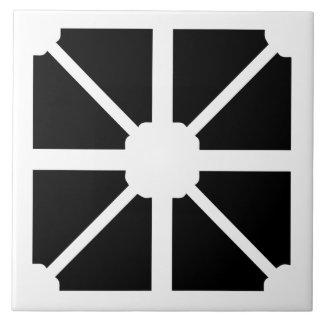 Carreau Tuile noire et blanche de mur de formes modernes
