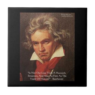 "Carreau Tuiles de citation d'amour ""de ciel"" de Beethoven"