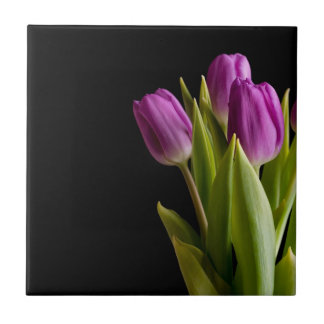 Carreau Tulipes violettes