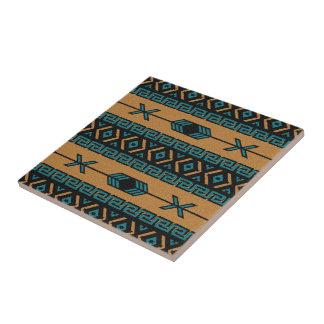 Carreau Turquoise et motif aztèque de sud-ouest de Tan