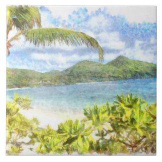 Carreau Un beau paradis tropical