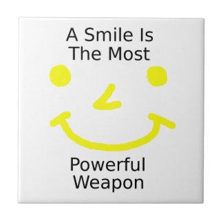 Carreau Un sourire est l'arme la plus puissante (le visage