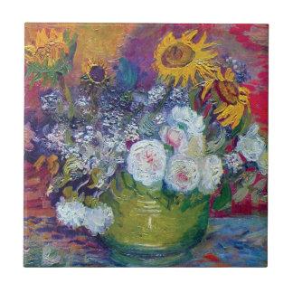 Carreau Van Gogh - la vie toujours avec des roses et des