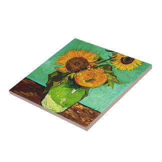 Carreau Van Gogh - tournesols