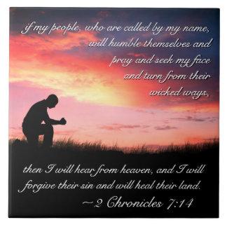 Carreau Vers de bible de 7h14 de 2 Chronicles si mes