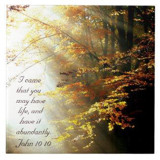 Carreau Vers inspiré John 10 de bible 10 arbres d'automne