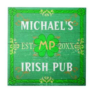 Carreau Vert irlandais de Pub de barre à la maison