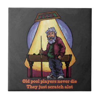 Carreau Vieil art de caractère de joueurs de piscine