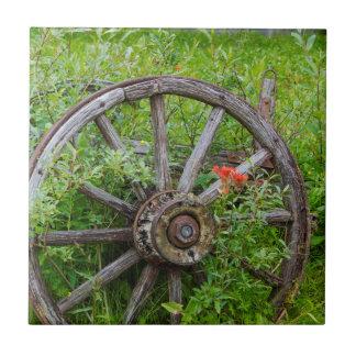 Carreau Vieilles roues dans la ville historique 3 de vieil