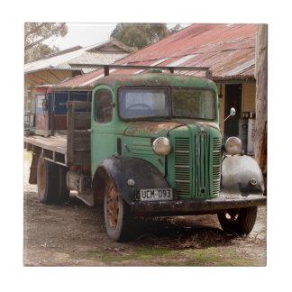 Carreau Vieux camion vert