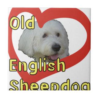 Carreau Vieux chien de berger anglais