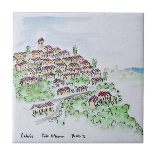 Carreau Village de sommet de Cabris   Provence, France