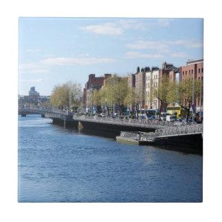 Carreau Ville de Dublin sur le Liffey