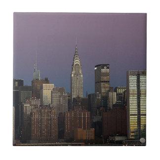 Carreau Ville Manhattan New York d'horizon