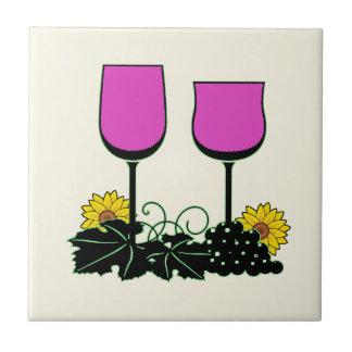 Carreau Vin et tournesols