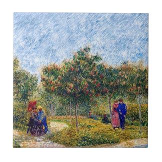 Carreau Vincent van Gogh - couples d'amoureux en parc