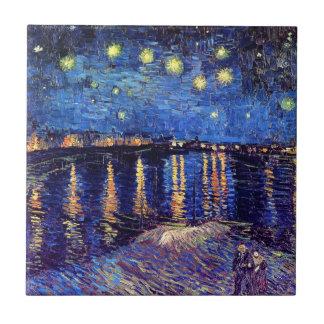 Carreau Vincent van Gogh - nuit étoilée au-dessus du Rhône