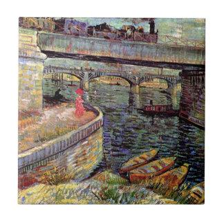 Carreau Vincent van Gogh - ponts à travers la Seine