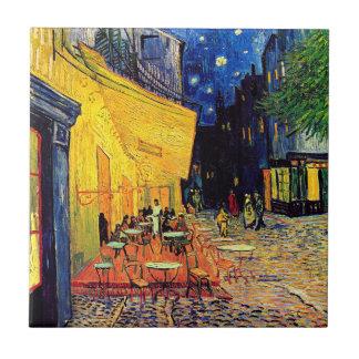 Carreau Vincent van Gogh - terrasse de café aux beaux-arts
